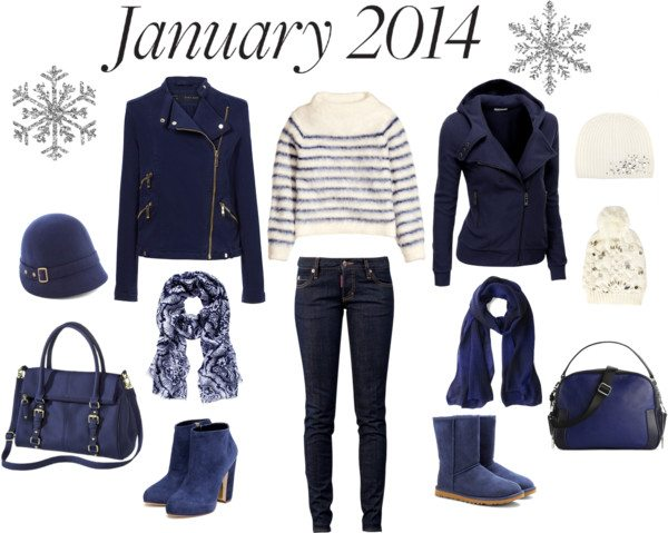 January blue outfit