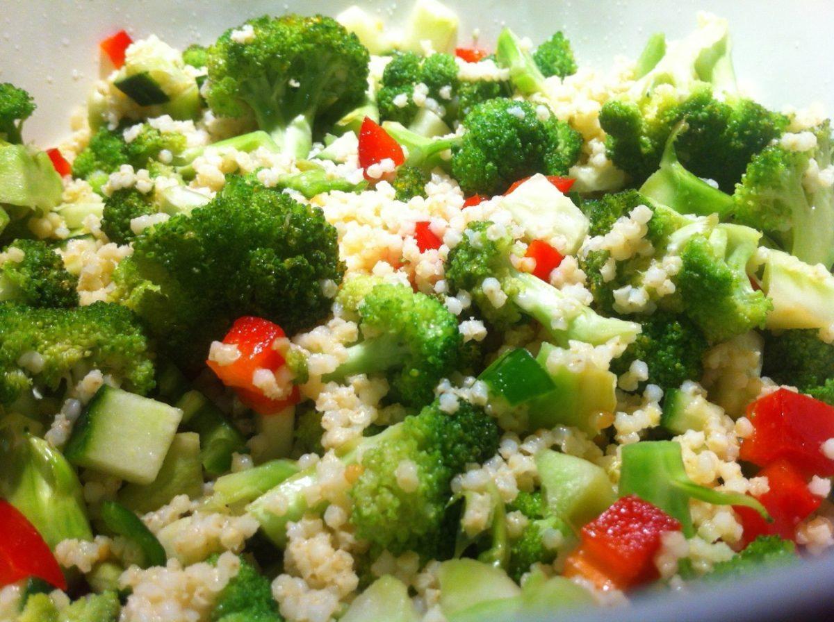 Ensalada de mijo y brocoli