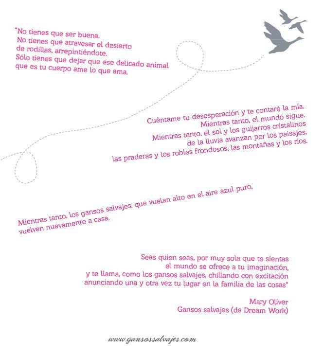 Gansos Salvajes poema