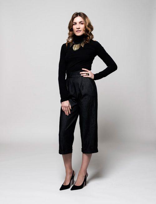 jersey mujer negro algodón orgánico - Lifegist