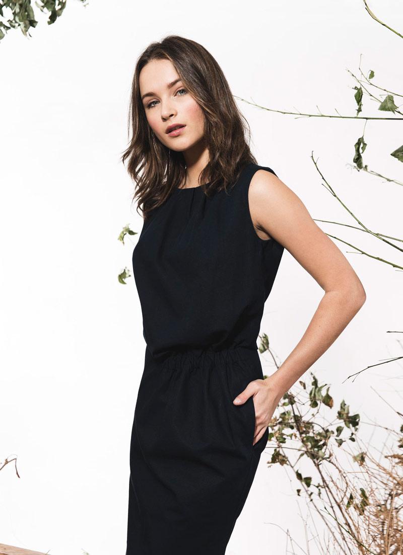 fd7fadf369 Vestido negro y azul de algodón orgánico – Green and Trendy – blog ...