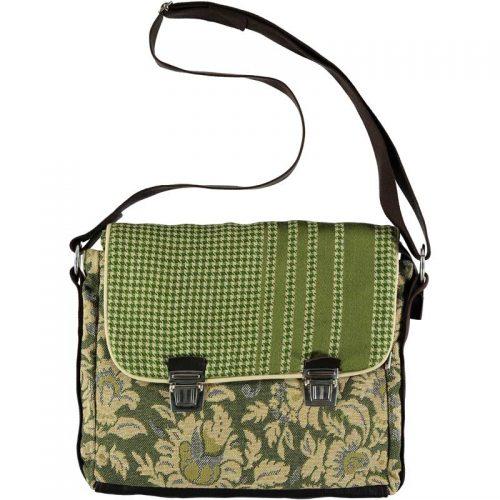 cartera verde tela tapicería