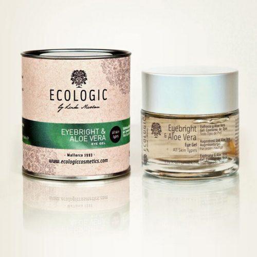 gel facial y de ojos de aloe vera - ecologic