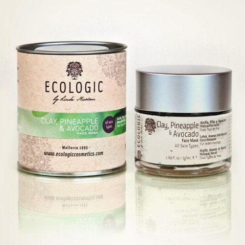 Mascarilla facial de pina y aguacate - Ecologic